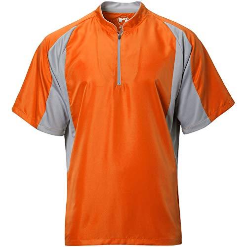 Wire2wire Mens Performance Short Sleeve Cage Jacket Orange/Grey 2XL