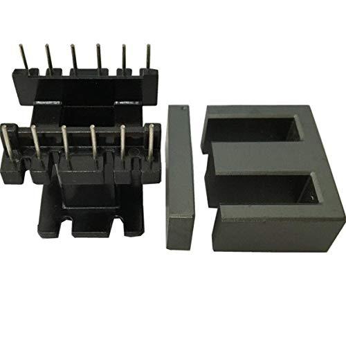 6sets EI33 6+6pin Stand Bobbin Transformer ferrite core Isolator Inductor ferrite RF Choke ferrite Bead MnZn PC40 ()