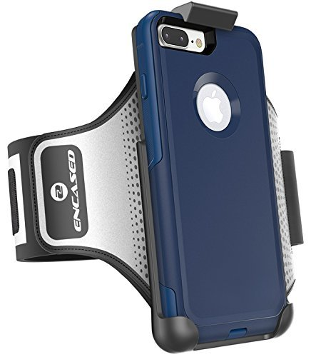 Encased Workout Armband for Otterbox Commuter Series - iPhone 8 Plus (5.5'') Sweat-Resistant Band (case is not included) by Encased (Image #1)