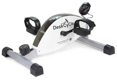 DeskCycle Desk Exercise Bike Pedal Exerciser, White
