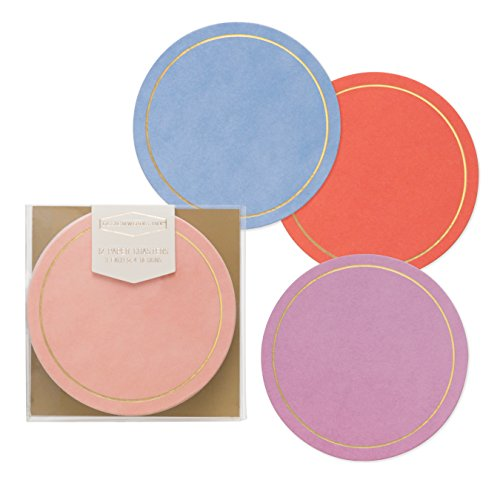 - Designworks Ink Pulpboard Drink Coasters, Boxed Set of 12, Scandi Solids