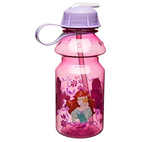 Zak Designs Princess 14oz Kids Water Bottle with Straw - BPA Free with Easy Clean Design, ()