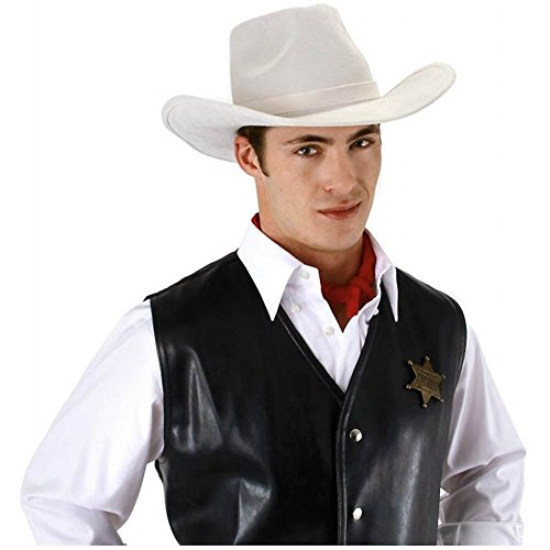 White Cowboy Hat Adult Lone Ranger Halloween Costume Fancy Dress (Lone Cowboy Adult Costume)