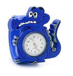 Vavna Lovely Top Boys Girls Fashion Cartoon Animal Silicone Slap Snap On Wrist Watch - Blue Crocodile