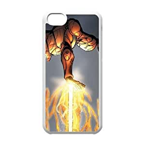 iPhone 5c Cell Phone Case White Ironman in Action L9K2RH