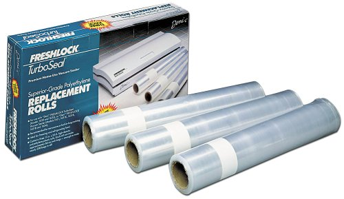 Deni 1640 Freshlock 11-Inch-by-33-Foot Vacuum Sealer Replacement Rolls, Set of 3 (Rolls Magic Vac)