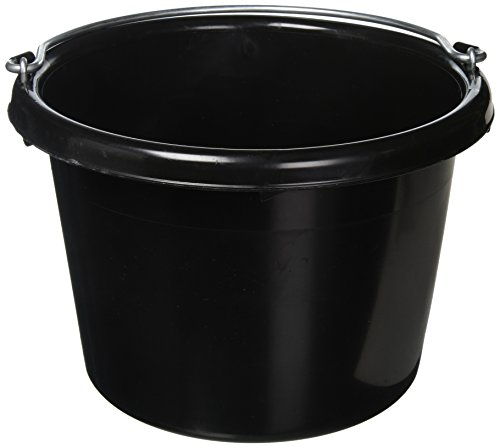 FORTEX INDUSTRIES N400-8BX 24 Pail, 8 Quart, Black