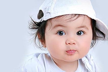 cf13848f612 MNTC Cute Baby yo yo hat Poster (Paper Print, 12 x18 inch): Amazon ...