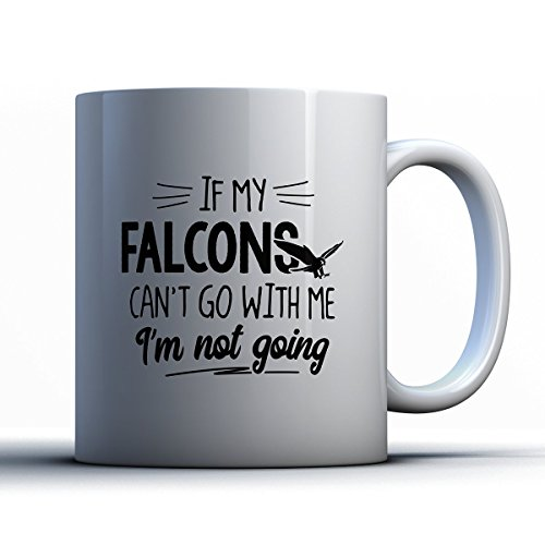 Captain Falcon Costume Halloween (Falcons Coffee Mug - If My Falcons Can't Go - Funny 11 oz White Ceramic Tea Cup - Cute Falcons Lover Gifts with Falcons)