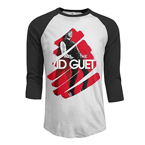 JeremiahR David Guetta Men's 3/4 Sleeve Raglan Baseball T Shirts Black L (Best Memories David Guetta)