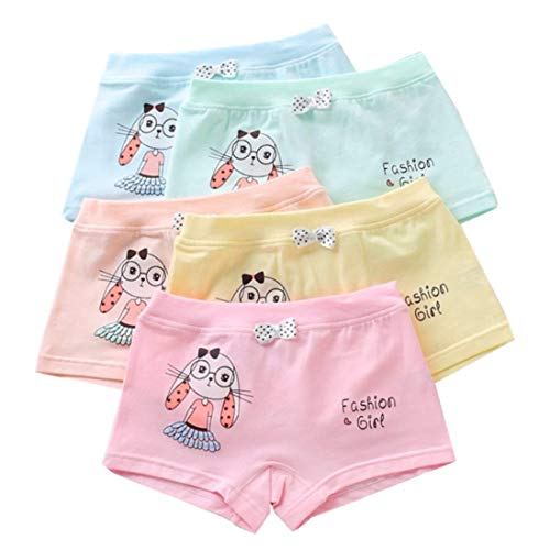 Girls' Boyshort Toddler Briefs Cotton Underwear 5pk Panties (2-4 Years, B)