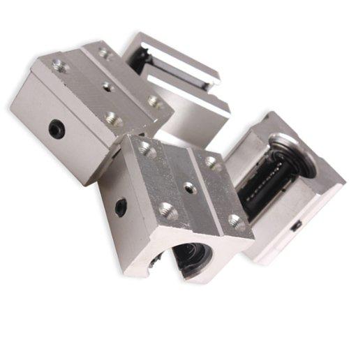 Pack of 4 SBR16UU 16mm Aluminum Open Linear Router Motion Bearing Shaft Block