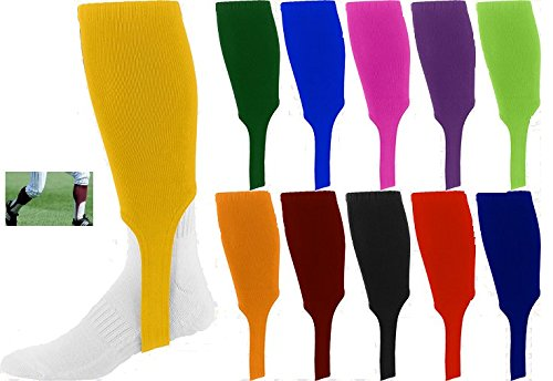 Augusta Sportswear Baseball/Softball 7″ Stirrup Sock Knee Length Old School (Bought as a Pair in 3 Sizes, 11 Colours) – DiZiSports Store