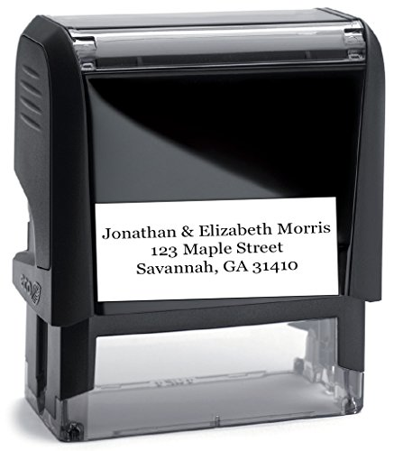 Personalized Address Stamp (Black Ink) - Large Font