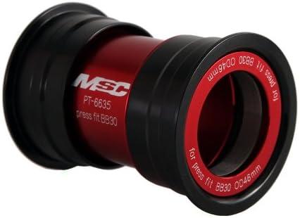 Adaptador de bielas integradas de ciclismo MSC Bikes BB30 color negro