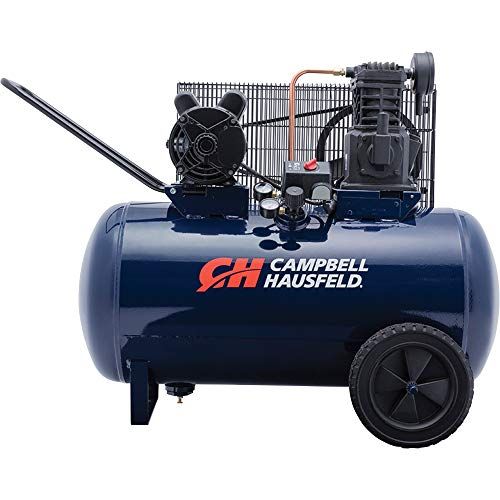 Air Compressor, 30-Gallon Horizontal Tank, Portable, Single-Stage, 10.2CFM, 3.7HP, 1 Phase (Campbell Hausfeld VT6271)