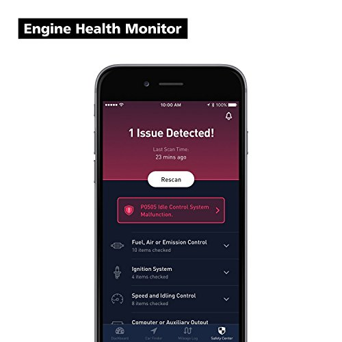 nonda ZUS Smart Vehicle Health Monitor, Wireless Bluetooth OBD2 Car Code Reader with App, No Monthly Fee & Real-Time Pro Dashboard, OBDII Scan Tool for iPhone & Android by nonda (Image #1)