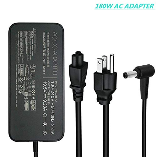 New 180W 19.5V 9.23A ADP-180MB F, FA180PM111 AC Adapter Compatible Asus Rog G750JM G750JS G750JW G750JX G751JL G751JM G752VL G752VTG-Series Gaming Laptop Charger