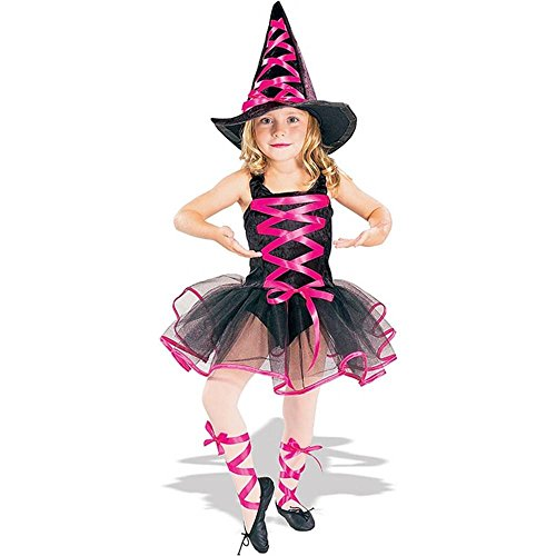 Pink Ballerina Witch Kids Costume - Large