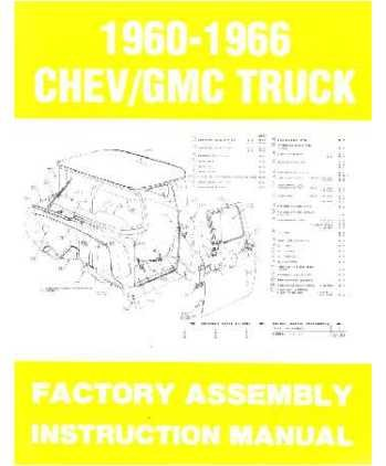 1963 1964 1965 1966 CHEVY PICKUP TRUCK Assembly Manual