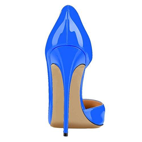 Calaier Femme Cabecause Pointue 12cm Escarpins Stiletto Chaussures Bleu