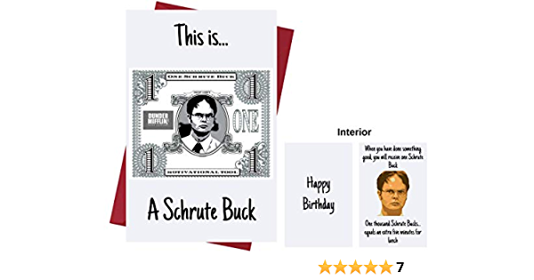 Etc with Envelope Family Dwight Schrute for Friends The Office TV Series Greeting Card Who Love The Office TV Series Birthday Card Dwight Schrute Lover Funny Birthday Card The Office US