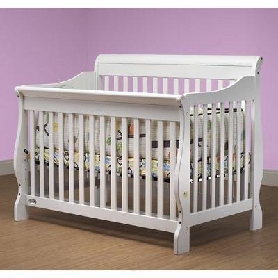 Lifestyle 4in 1 Crib (Orbelle Sleigh Crib, White)