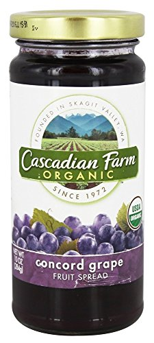 Cascadian Farm Organic Fruit Spread - Concord Grape Fruit - 10 oz