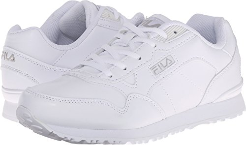 White Sneakers Fila (Fila Womens Cress Running Shoes 8.5 White)