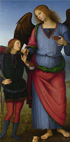 Oil Painting 'Pietro Perugino-The Archangel Raphael With Tobias,1496-1500' 24 x 49 inch / 61 x 124 cm , on Acute Definition HD canvas prints is for Gifts And Bed Room, Gym And Kitchen Decoration, huge
