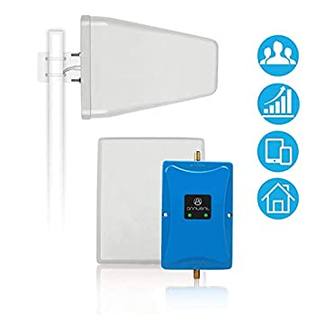 Image of Cell Phone Signal Booster Antenna for Home and Office - Boosts 4G LTE Voice and Data for Verizon AT&T T-Mobile - Dual 700MHz Band 12/13/17 Cellular Repeater Amplifier Kit Cover Up to 5,000Sq Ft Signal Boosters
