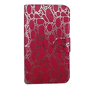 LZX Gold Stone Grain Pattern PU Leather Full Body Case with Stand for Samsung Note I9220