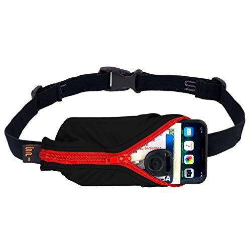 SPIbelt Large Pocket (Black with Red Zipper, 25