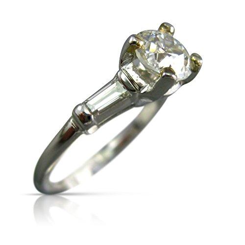 Milano Jewelers 1.12CT OLD MINE DIAMOND PLATINUM CLASSIC 3 STONE ENGAGEMENT RING #25818 -