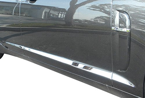 2009-2011 Jaguar XF Body Side Molding Trim Overlay Chrome Stainless Steel by Upgrade Your Auto