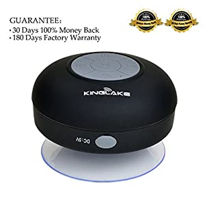 KINGLAKE Waterproof Wireless Bluetooth Shower Speaker Handsfree Speakerphone Compatible with All Bluetooth Devices Iphone 5s and All Android Devices by KINGLAKE