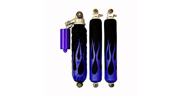 VPS Shock Cover Compatible With Yamaha Banshee Raptor 660 Blue Flame Shock Covers