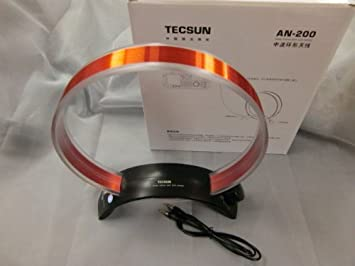 Tecsun AN-200 AM/MW Rotatable Tuneable Loop Gain Radio Antenna(No Battery  Needed)
