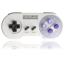 SNES30 Gamepad, YIKESHU 8Bitdo Controller work with Nintendo Switch, Wireless Bluetooth Controller Classic Nintendo Gamepad Joystick for iOS (iCade), Mac OS, Android and Windows devices
