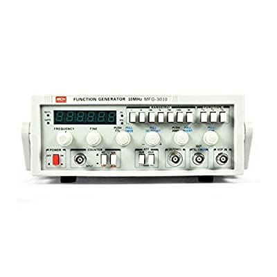 MFG-3010 Low-frequency Function Signal Generator 15MHz Signal Source 30M Frequency Meter (Size : 110V)