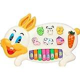 Hetkrishi Rabbits Music Piano with Animal Sounds, Flashing Lights and Wonderful Music- Multicolor