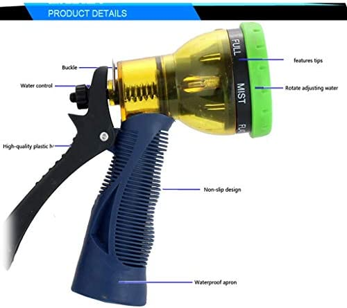 AJZXHE Garden Hoses Garden hose nozzles for watering lawns and flowers, patio and an ideal choice in the yard washing and cleaning items garden hose reel (Size : 5M)