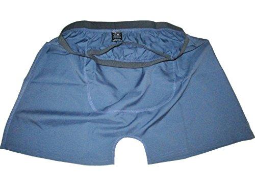 Stashitware Large Blue Mens Secret Pocket Underwear, Boxers, 100% Polyester