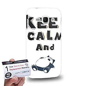 Case88 [Samsung Galaxy Ace 3] 3D impresa Carcasa/Funda dura para & Tarjeta de garantía - Art 3D Alphabet Keep Calm And Sleep Pokemon
