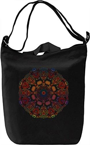Colourful Mandala Borsa Giornaliera Canvas Canvas Day Bag| 100% Premium Cotton Canvas| DTG Printing|