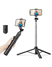 K&F Concept 1.55M 3 in 1 Multifunctional Selfie Stick Tripod, with Detachable Bluetooth Remote 360 ° Rotation Phone Stand Holder Compatible with GoPro, Small Camera and Smartphones