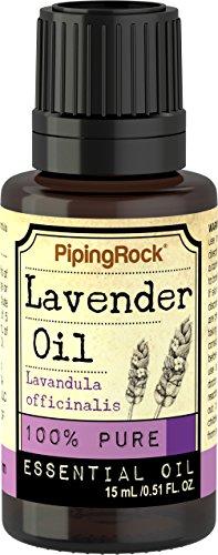 Piping Rock Lavender 100% Pure Essential Oil 1/2 oz (15 ml) Dropper Bottle Lavandula Officinalis Therapeutic Grade
