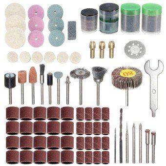 New 347pcs Rotary Tool Accessories Set for Dremel Grinding Sanding Polishing Tool 670 mini saw attachment drill press three tool combo kit trio scroll bits accessories stylus
