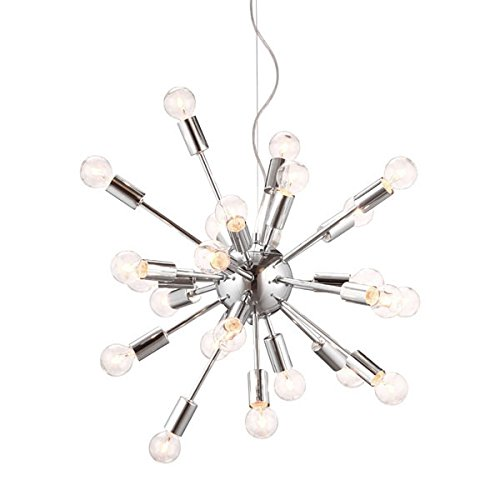 Zuo 50028 Pulsar Ceiling Lamp Chrome ()