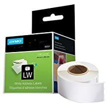 """DYMO LabelWriter Label Thermal, Printer Labels Address Standard 1-1/8"""" x 3-1/2"""" 260 Labels, 2-Carded, White (30251)"""